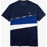 Camiseta Lacoste Sport Masculina - Masculino-Marinho+Branco