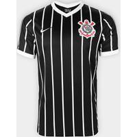 Camisa Corinthians Ii 20/21 S/N° Torcedor Nike Masculina - Masculino-Preto+Branco
