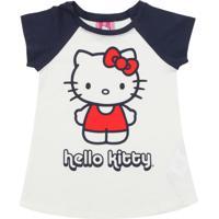 Camisola Hello Kitty Menina Branca/Azul