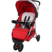 Carrinho De Bebê Junne Triciclo Baby Style Vermelho
