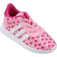 Tênis Adidas Lite Racer Princess Infantil - Feminino-Rosa+Branco
