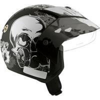 Capacete Mixs Helmets Attack Danger - Preto/Cinza