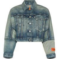 Heron Preston Camisa Jeans Croppped X Levi'S - Azul