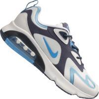 Tênis Nike Air Max 200 - Masculino - Branco/Azul Esc