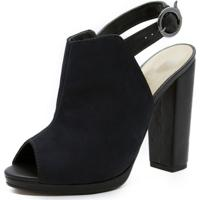 Sandália Shoes Inbox Open Back Boot - Feminino-Preto