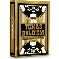 Baralho Copag Poker Texas Hold'Em Preto Plástico 55 Ct - Unissex