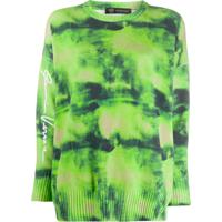 Versace Suéter Tie-Dye Gv - Verde