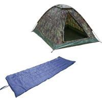 Kit Barraca De Camping Tipo Iglu Kongo 3 Pessoas Nautika + Colchonete Camp Mat - Unissex