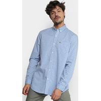 ... Camisa Xadrez Lacoste Vichy Masculina - Masculino-Azul Claro 7c954e15b2