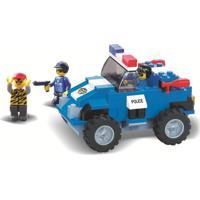 Blocos De Encaixe Xalingo Defensores Da Ordem Polícia 119 Peças Azul - Tricae