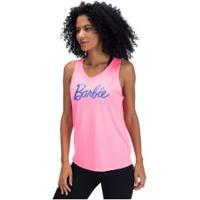 Camiseta Regata Barbie Bar2013 - Feminina - Rosa/Azul