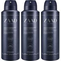 Combo Desodorante Zaad Mondo: 3 Unidades