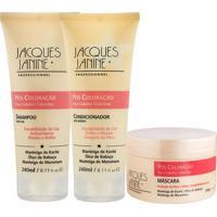 Kit De Shampoo & Condicionador + Mã¡Scara Pã³S Coloraã§Ã£O- Jacques Janine