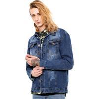 Jaqueta Jeans Fiveblu Plm43 Azul