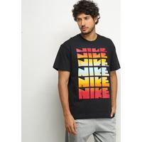 Camiseta Nike Nsw Classic Masculina - Masculino-Preto