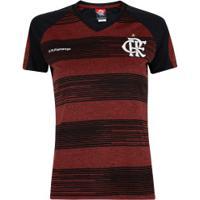 Camiseta Do Flamengo Motion 19 - Feminina - Preto/Vermelho
