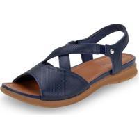 Sandália Salto Baixo Usaflex - Aa3007 Feminina - Feminino-Azul