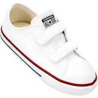 Tênis Infantil Converse Chuck Taylor All Star 2 Velcros Baby - Unissex-Branco