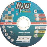 Disco De Corte Para Metais 115X22,2X1Mm Multicore Norton