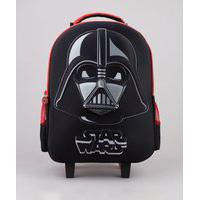 Mochila Escolar Infantil Com Rodinhas Star Wars Preta