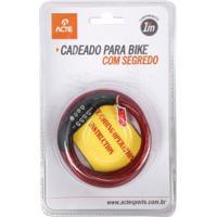 Cadeado Para Bicicleta Com Segredo Acte Sports A21 - Vermelho