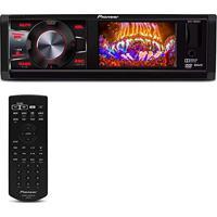Dvd Player Automotivo Pioneer Dvh-7880Av 1 Din 3 Pol Usb Aux Mp3 Cd Wma Am Fm Rca Controle