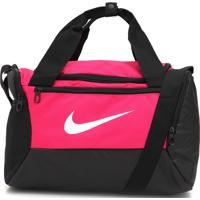 Bolsa Nike Brsla Xs Duff 9.0 Preta/Rosa