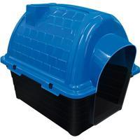 Casinha Plástica Para Pets Iglu 47X42Cm Azul