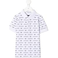 Emporio Armani Kids Camisa Polo Com Logo - Branco