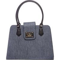 74d5a9cc7a ... Bolsa Victor Valência Clássica Ombro Feminina - Feminino-Azul Escuro