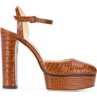 Jimmy Choo Sapato Maple 125 - Marrom