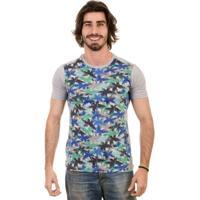 Camiseta Gnose Estampa Coqueiro Azul