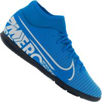 Chuteira Futsal Nike Mercurial Superfly 7 Club Ic - Adulto - Azul Cla/Branco