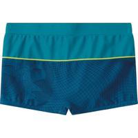 Sunga Boxer Com Recortes- Verde Água & Azul Escurolilica Ripilica E Tigor T. Tigre