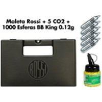 Maleta Case Rígido Rossi + 05 Co2 12G + Esferas Plásticas 1000Un 0.12G