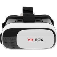 Óculos De Realidade Virtual Gbmax Cardboard 3D Vr Box Plus Preto/Branco