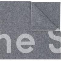 Acne Studios Echarpe Jacquard Com Logo - Cinza