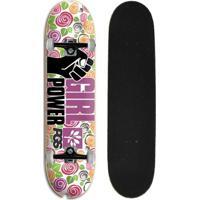 1debbeab7e Netshoes  Skate Feminino Iniciante Completo Progress - Pgs Gp Flores -  Feminino