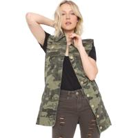Colete Sarja Uber Jeans Militar Verde