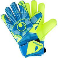 Luvas De Goleiro Uhlsport Radar Control Soft Pro - Adulto - Amarelo Cla/Azul