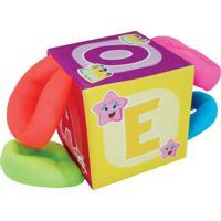 Cubo Com Alã§As - Amarelo & Vermelho- 22X22X22Cm Cia Brink