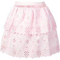 Alberta Ferretti Embroidered Mini Skirt - Rosa