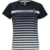 Camiseta Do Atlético-Mg Date 19 - Feminina - Preto/Branco