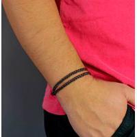 Bracelete Estilo Ráfia Havana Marrom