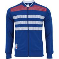 Jaqueta França Ci Adidas - Masculina - Azul/Branco