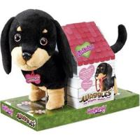 Pelúcia Fun Adotados Fur Balls Pets Salsicha - Feminino-Preto