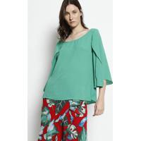 Blusa Texturizada Com Vazado - Verde- Moiselemoisele