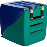 Caixa Transporte 2 Em 1 Happy Box-Charlie Pet - Azul / Verde