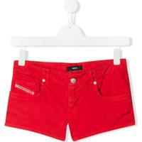 Diesel Kids Bermuda Jeans Slim - Vermelho