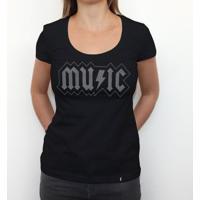 Music Acdc - Camiseta Clássica Feminina
